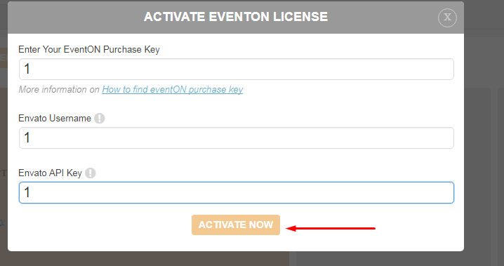 How To Activate EventON Plugin